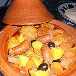recette Tajine poulet merguez bombay