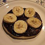 recette Pizza sucrée chocolat/banane