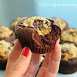 cookies : recette Muffins mi-brownie mi-cookie