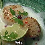 recette Saint Jacques à l'Infusion de Lait de Coco