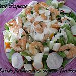 recette Salade fraicheur aux crevettes persillées