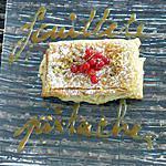 recette feuilleté pistache groseille