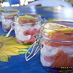 recette verrine de saumon fumé à la ricotta