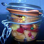 recette verrine de fruits frais ( réalisé par mon fils Anthony )