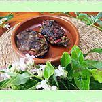 recette Aubergines  farcies au poivron rouge et  olives noires