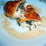 recette blanc de poulet en pate feuilletée