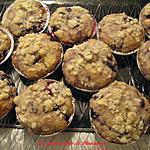 recette Muffins streusel aux bleuets