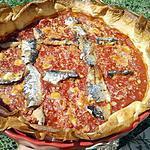 recette Tarte à la tomates et sardines