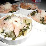 recette Gratin de blette saumon sauce parmesan