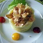 recette Parmentier de saumon aux chips d'ail