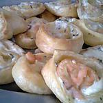 recette Roulé feuilleté chevre saumon