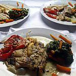 recette Ailes de raie au four et ses Légumes à l 'étuvée...