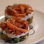 recette Tartare de concombre aux noix de cajou et au saumon