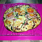 recette pizza au lardons conté poivrons tomate oignons