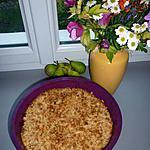 recette Crumble aux poires caramélisées