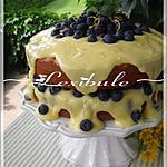 Gâteau moelleux aux amandes, aux agrumes et aux bleuets