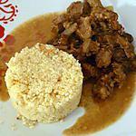 recette tajine express d'agneau et pruneau accompagné de semoule et quinoa
