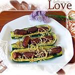 recette Hot dog de courgettes aux saucisses cocktail