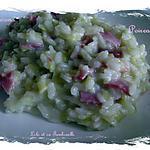 recette Risotto aux poireaux et bacon