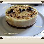recette Bavarois à la poire sur fondant au chocolat et craquant spéculoos