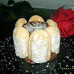 mini charlotte au chocolat et coco rapée