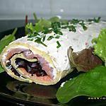 recette petit roulé au saumon façon bûche de noël