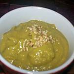 recette soupe glacée ptits pois coco au sésame