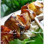 recette Brochettes hawaïennes avec riz à la noix de coco