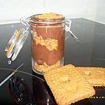 recette verrine de mousse au chocolat et spéculoos