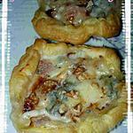 recette feuilletée de poire et gorgonzola
