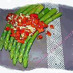 recette Salade d'asperges aux poivrons