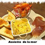 recette Assiette marine avec sa mini-cocotte de la mer, ses gambas et ses toasts de thon fumé