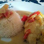 recette Poulet au lait de coco et curry au Wok