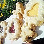 recette Assortiment de lunettes au lemon curd & à la confiture de fraise & nutella