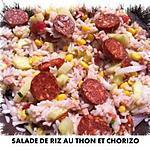 recette SALADE DE RIZ AU THON ET CHORIZO