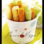 recette Frites de pomme de terre, de céleri et de carotte (Trempettes)