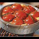 Clafoutis de tomates cerises à la tomme de brebis