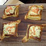 recette Feuilletés d'oeufs brouillés au saumon (recette de CScrim)