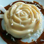 recette Rose de coco fraîche (flan)