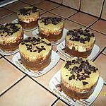 Bavarois poire sur fondant au chocolat et croquant aux spéculos