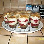 recette Verrines aux framboises et spéculos