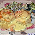 recette Vols-aux-vent-aux crevettes et curry