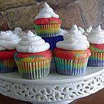 recette ?? Cupcakes Arc-en-ciel ??