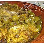 recette Tajine de poulet au citron confit & olives