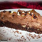 mousse d\avocat : recette Carré brownie à la mousse au chocolat