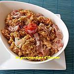 recette Risotto au poivron rouge et jambon de Parme