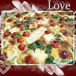 Tarte aux tomates cerise , courgettes  et feta