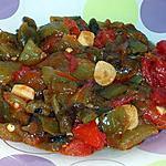 recette Salade de poivron et tomate à l'ail.