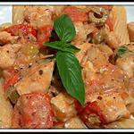 recette Pâte Tortiglioni au poulet sauce miel - moutarde à l'ancienne
