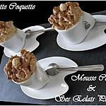 recette Mousse café aux éclats pralinés